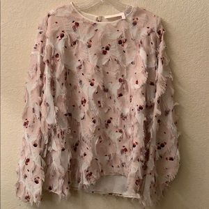 See By Chloe feathered blouse